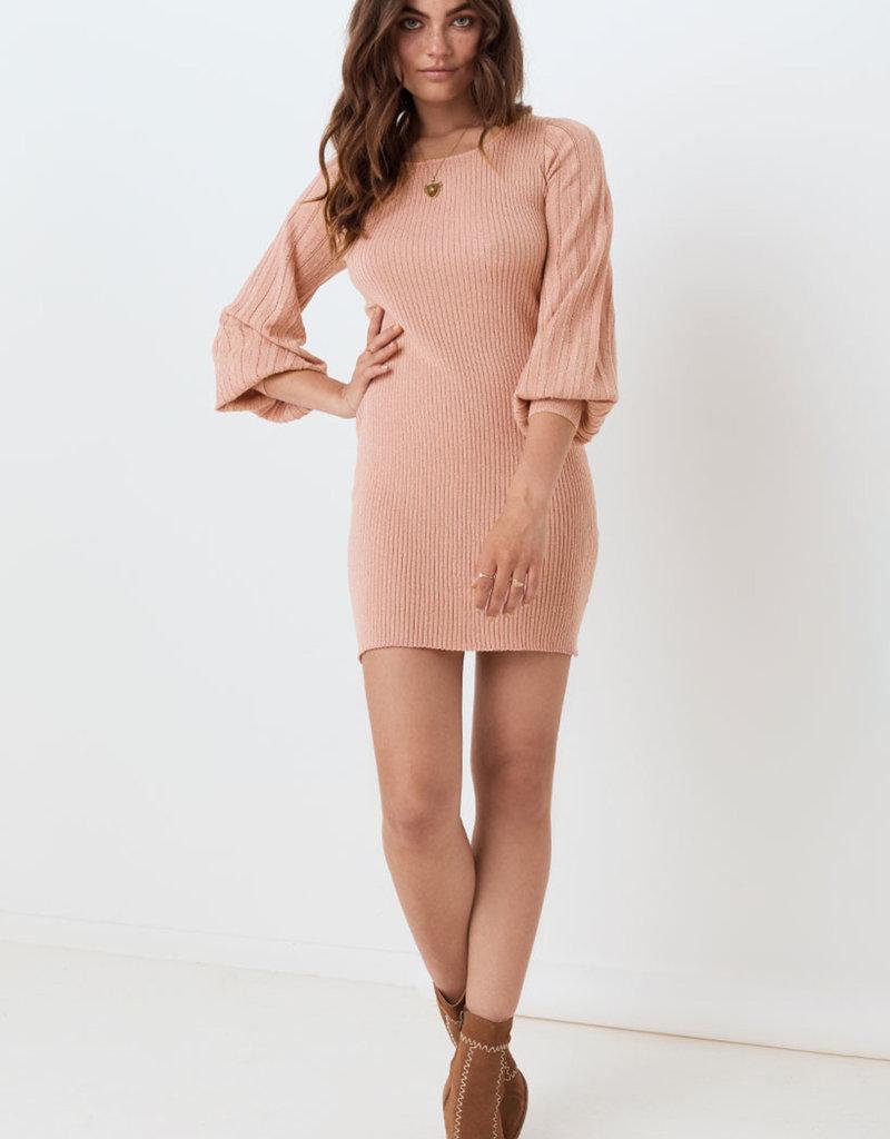 SPELL & THE GYPSY Margot Knit Mini Dress - Rose