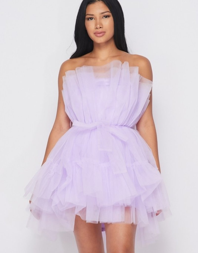 SHAKE YOUR BON BON All Eyes On Me Mini Party Dress -  Lavender