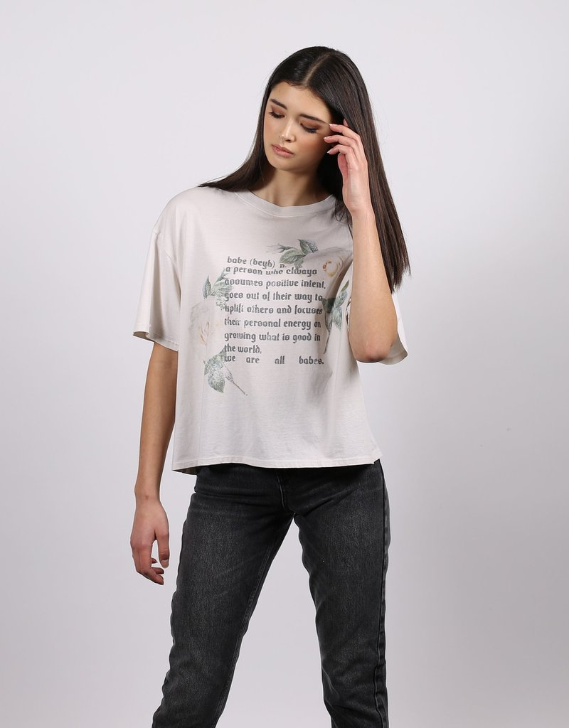 """brunette the label The """"BABE DEFINITION"""" Vintage Boxy Crew Neck Tee"""