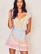 LOVESHACKFANCY Leon Dress - Multi Rosebud Check