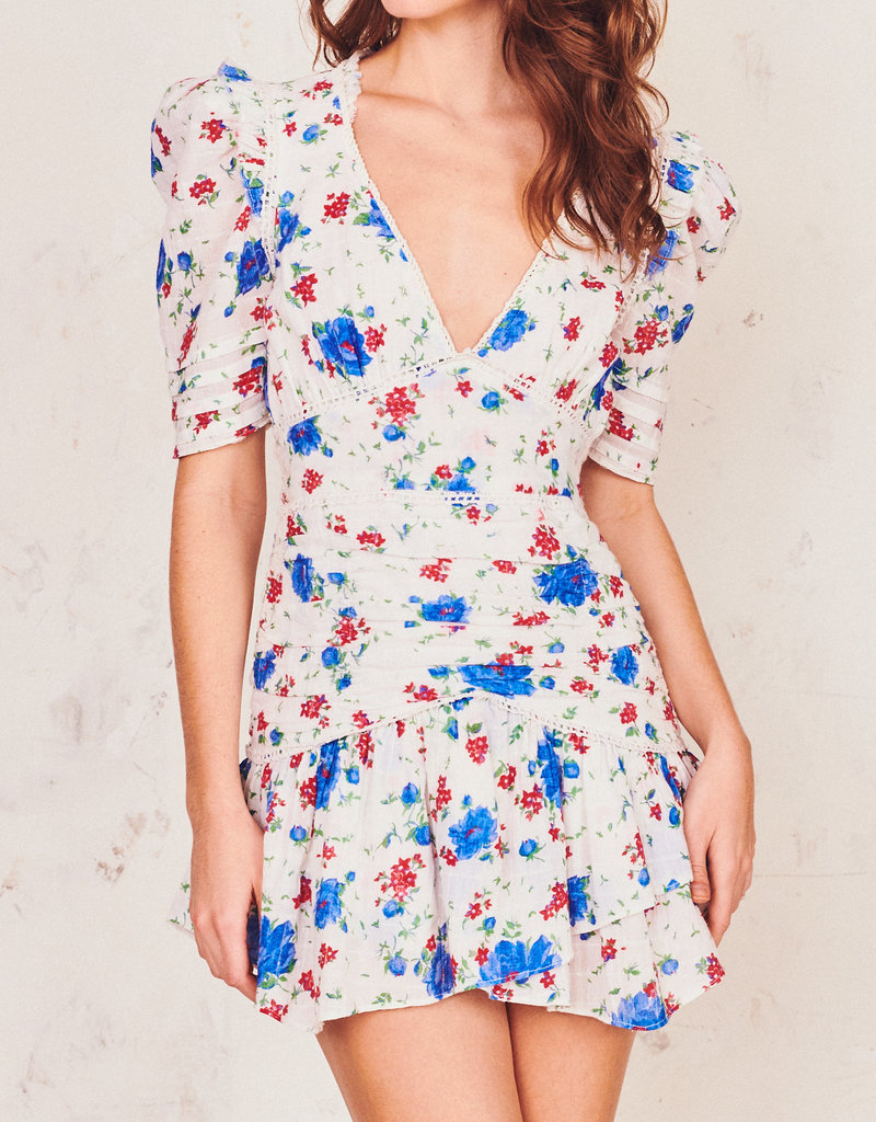 LOVESHACKFANCY Arlo Dress - Blue Notte Bluno