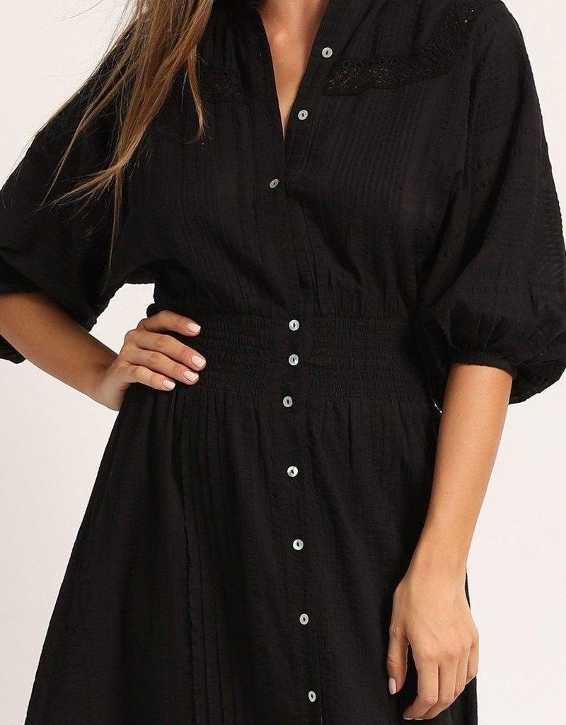 CLEOBELLA Bijou Midi Dress - Black