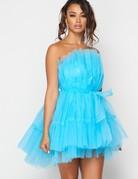 SHAKE YOUR BON BON All Eyes On Me Mini Party Dress -  Blue