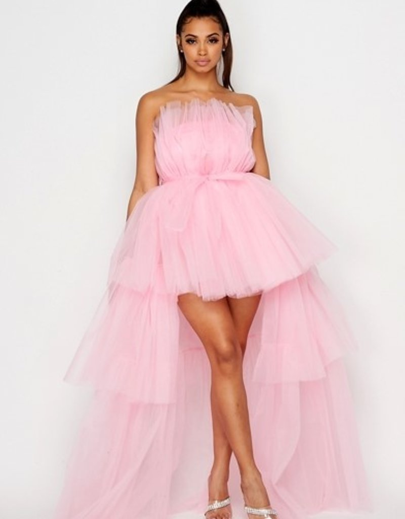 SHAKE YOUR BON BON All Eyes On Me Hi-Low Party Dress -  Blush