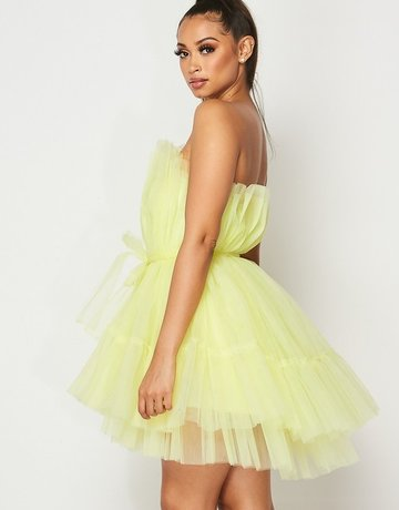 SHAKE YOUR BON BON All Eyes On Me Mini Party Dress -  Yellow