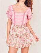 LOVESHACKFANCY Ruffle Mini Skirt - Blushing Rose
