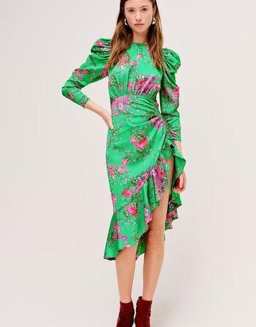 FOR LOVE AND LEMONS Ross Midi Dress  - Kellygreen