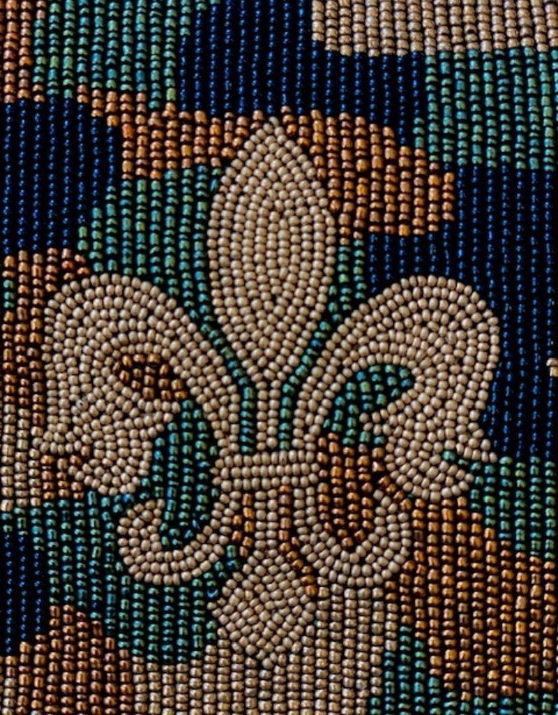 Tiana Hand Beaded Custom Clutch/Crossbody - Camo Fleur DeLis