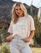 brunette the label Babes Supporting Babes Boxy Tee - Pink Marble
