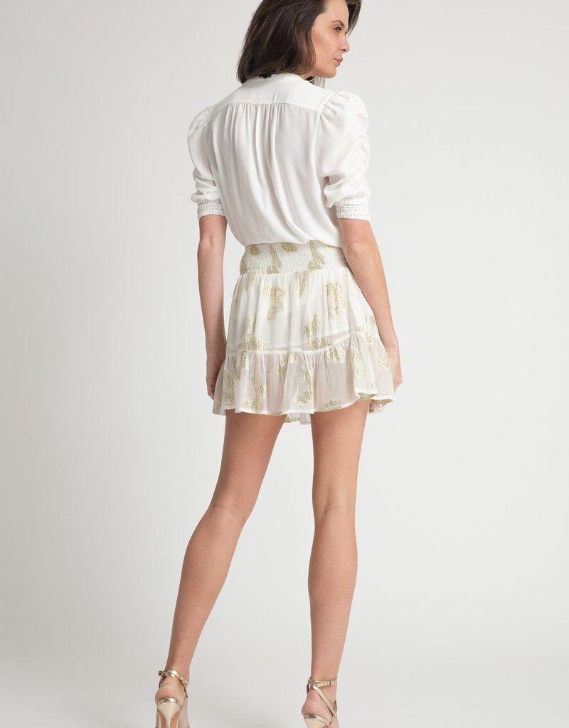 Muche & Muchette Papillon Mini Skirt - White Butterfly