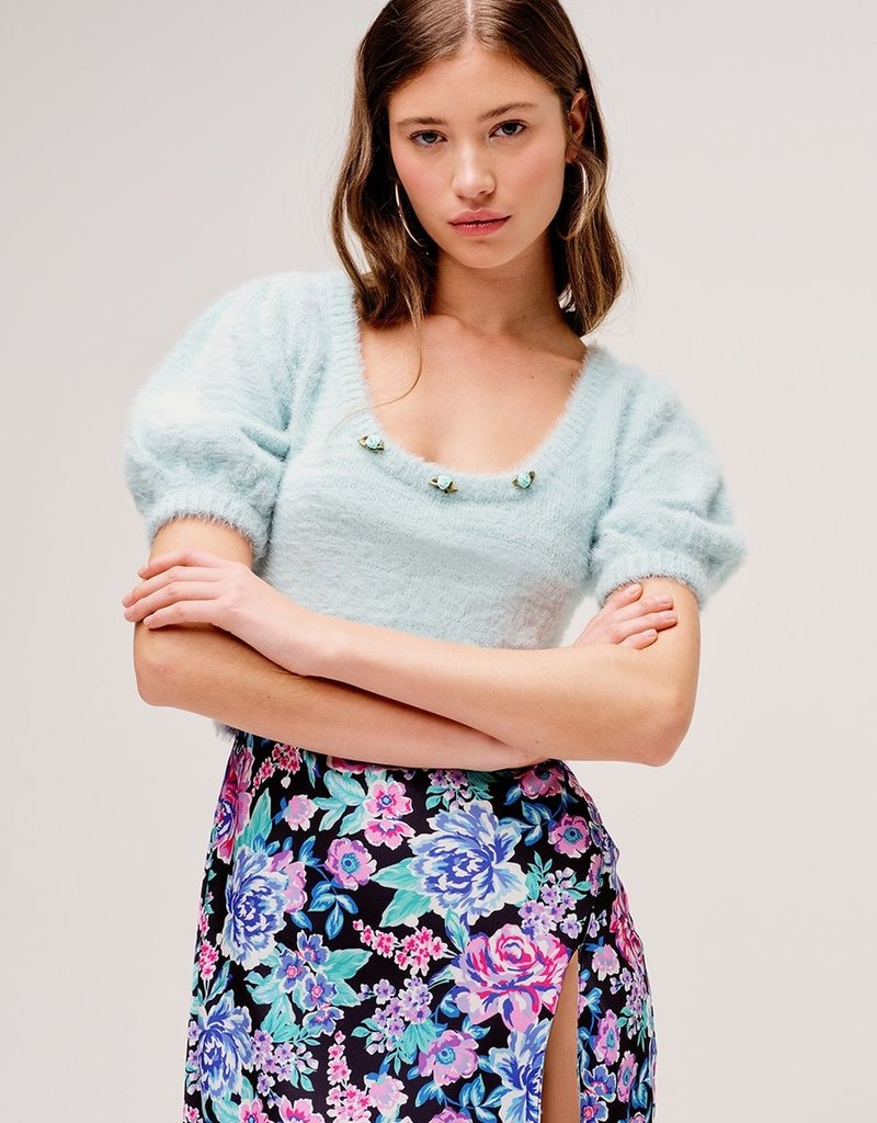 FOR LOVE AND LEMONS Anastasia Sweater - Sky