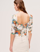 FOR LOVE AND LEMONS Brandy Top - Ivory