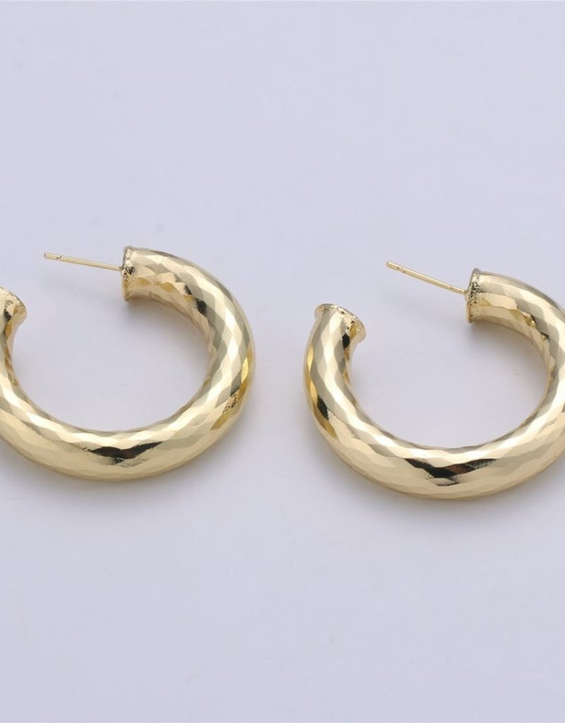 Twiga Chunky Hoop Thick Hammered 40mm