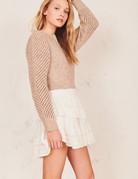 LOVESHACKFANCY Ruffle Mini Skirt - White Heritage