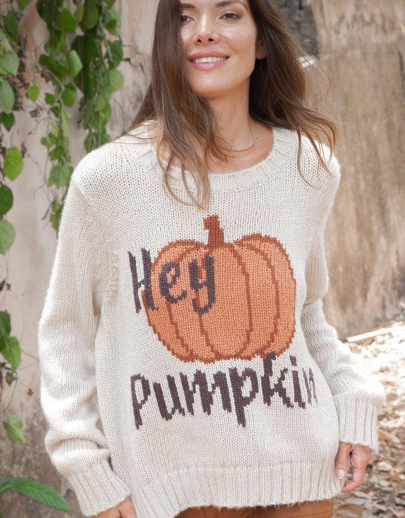 WOODEN SHIPS Hey Pumpkin Crew Chunky - Alabaster