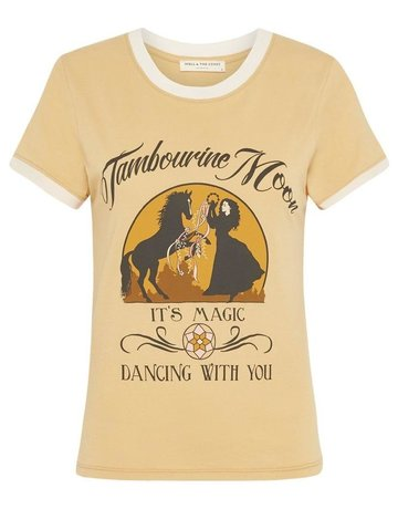 SPELL & THE GYPSY Tambourine Moon Organic Shrunken Tee - Wheat