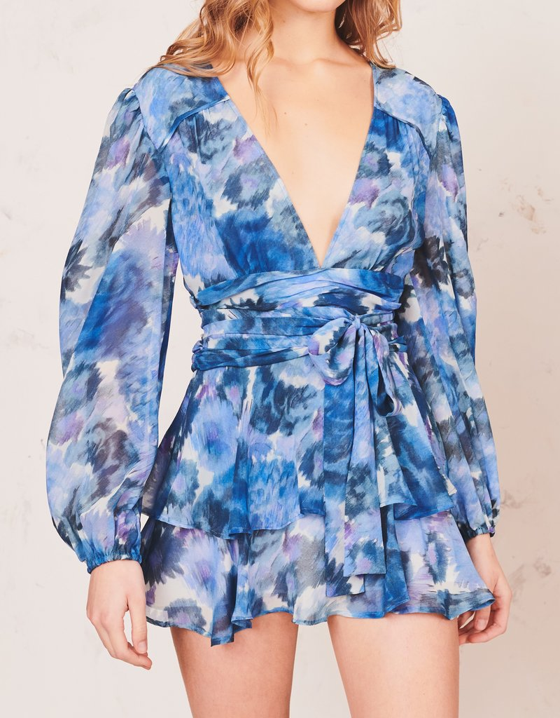 LOVESHACKFANCY Lincoln Dress - Sapphire Blue