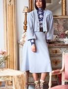 LOVESHACKFANCY Avignon Cardigan - Periwinkle Blue