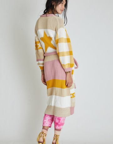 LOVESHACKFANCY Grayson Duster - Desert Sunset