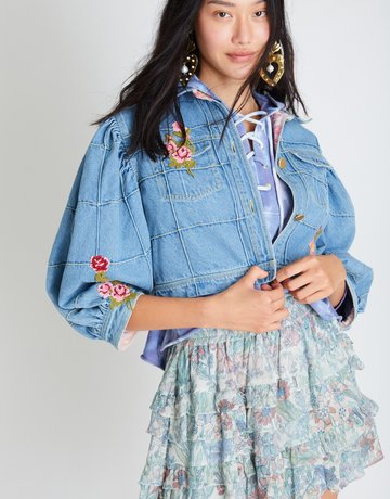 LOVESHACKFANCY Devia Jacket - Denim