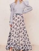 LOVESHACKFANCY Dasha Skirt - Blueberry Cream