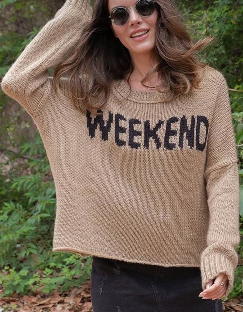 WOODEN SHIPS Weekend Slouchy Pullover  - Rope/Black