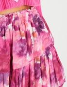 LOVESHACKFANCY Ruffle Mini Skirt - Pre Dawn Sky