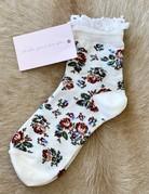 SHAKE YOUR BON BON Socks - Lace Top Rosebuds
