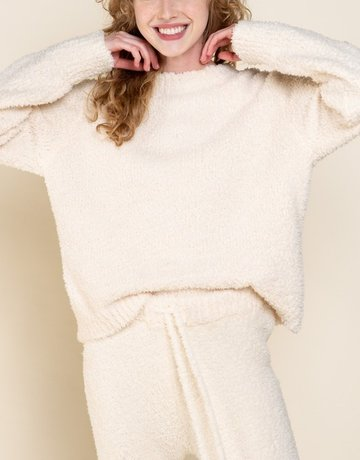 SHAKE YOUR BON BON Cozy Wozy Crewneck Sweater - Cream