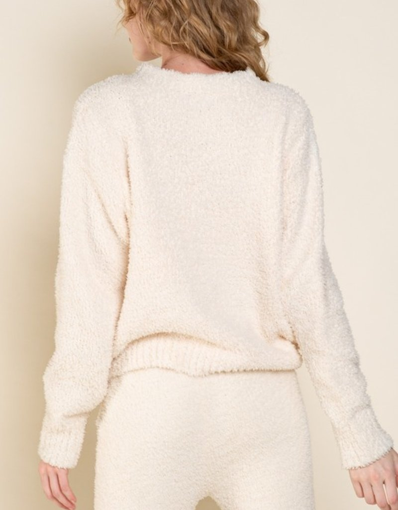 SHAKE YOUR BON BON Cozy Wozy Crewneck Sweater - Cream