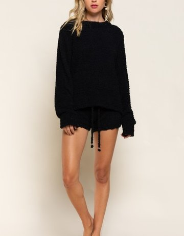 SHAKE YOUR BON BON Cozy Wozy Crewneck Sweater - Black