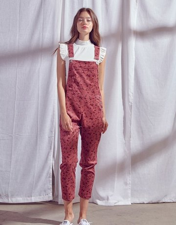 SHAKE YOUR BON BON Overall Feeling Cute Jumper - Dusty Rose