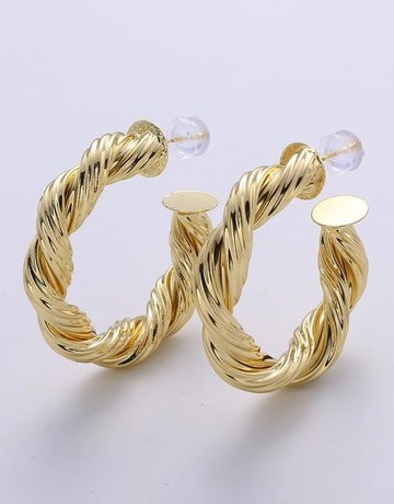 Twiga Braided Chunky Hoop  40mm