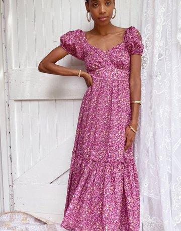 LOVESHACKFANCY Angie Dress - Cherry Wine