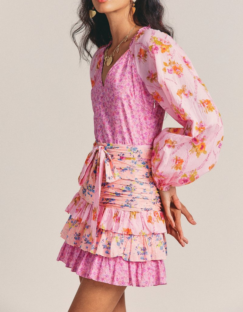 LOVESHACKFANCY Rina Dress - Exploded Pink