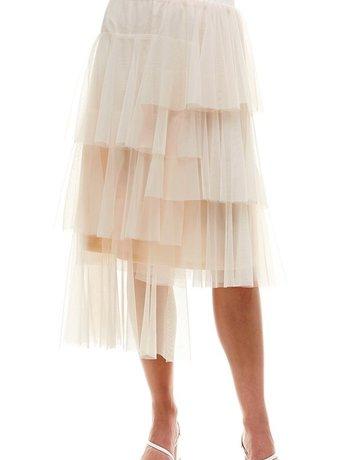 SHAKE YOUR BON BON I'm a Ballerina Midi Skirt ~ Ivory