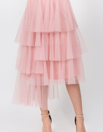 SHAKE YOUR BON BON I'm a Ballerina Midi Skirt ~ Blush
