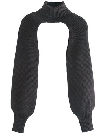 SHAKE YOUR BON BON Cut It Out Turtleneck ~ Black