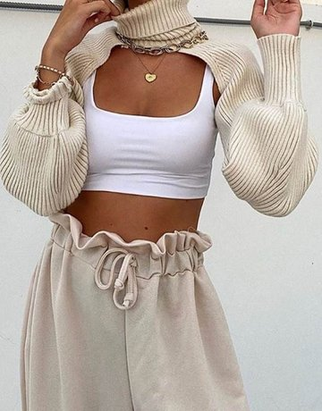 SHAKE YOUR BON BON Cut It Out Turtleneck ~ Beige