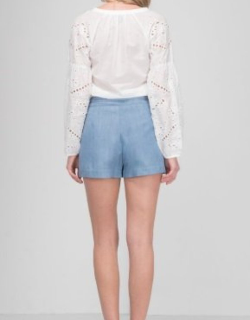 GREYLIN Cut-Out Embr. Blouse