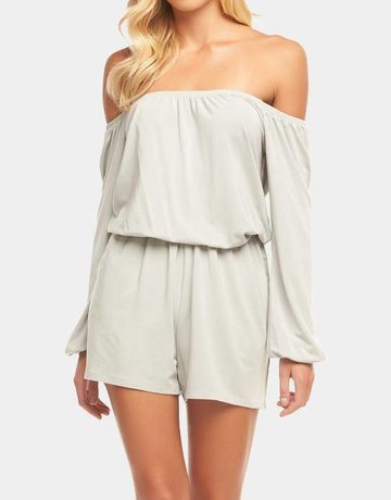 TART Dev Off Shoulder Romper - Sage