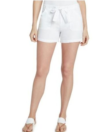 MATTY M Linen Shorty w/ Tie - White