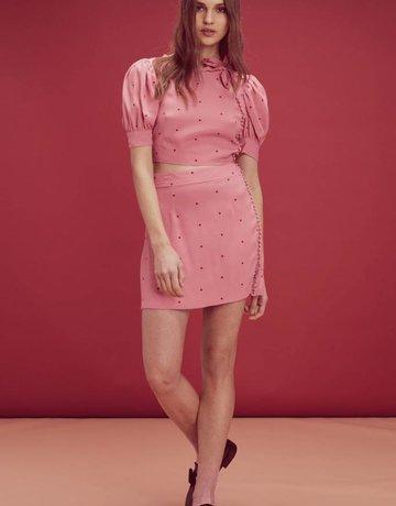 FOR LOVE AND LEMONS Rosie Dot Mini Skirt