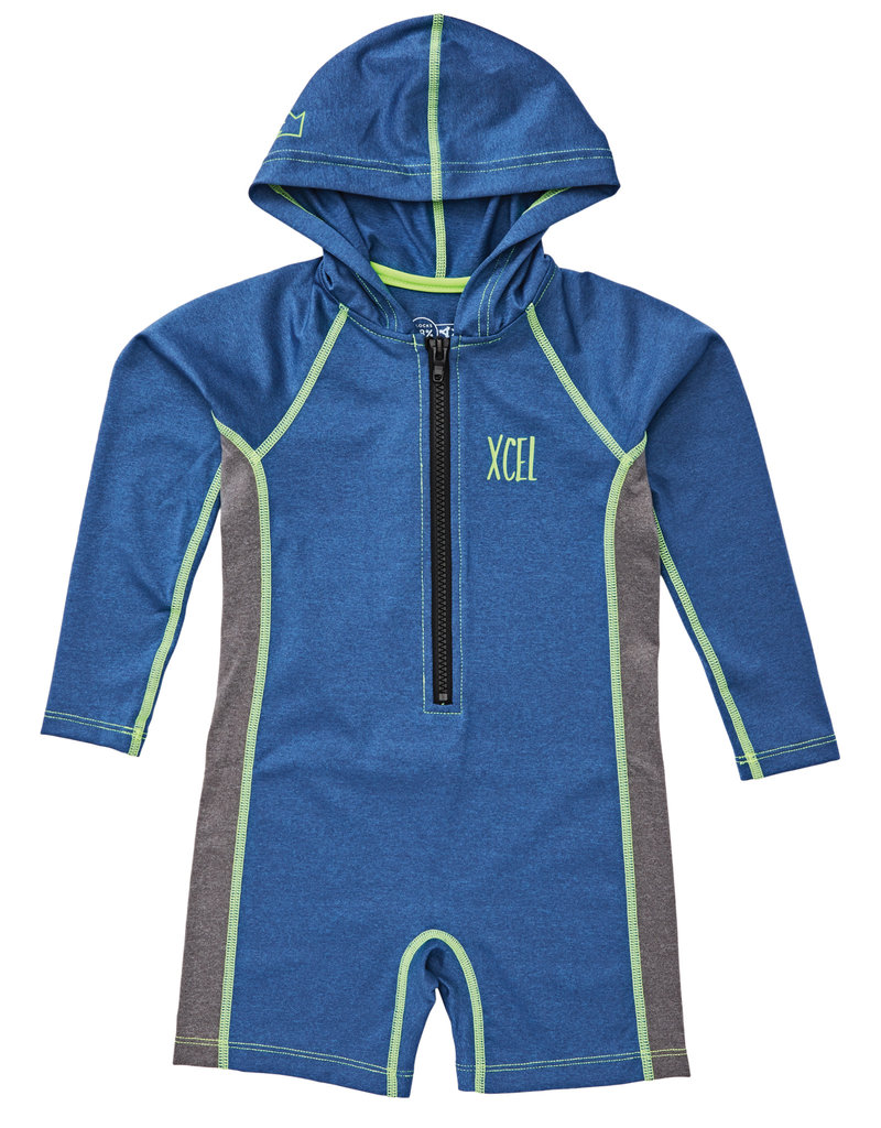 Xcel toddler stretch ls fz hooded springsuit