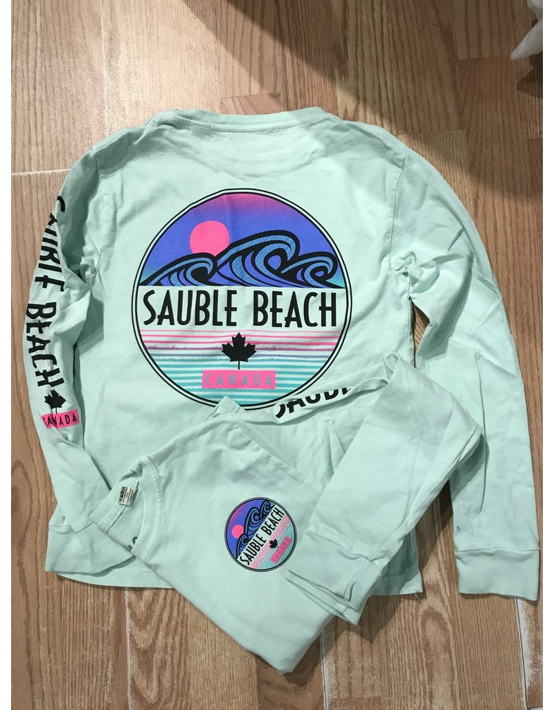 Sauble Beach this or that youth ls tee