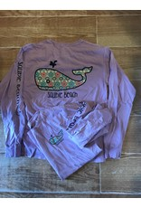 Sauble Beach Wish note whale fbs dyed ringspun long sleeve