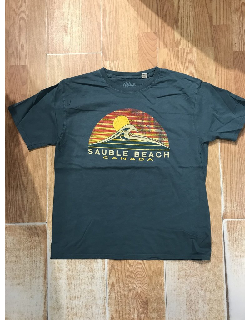 Sauble Beach Enervation waves ss tee