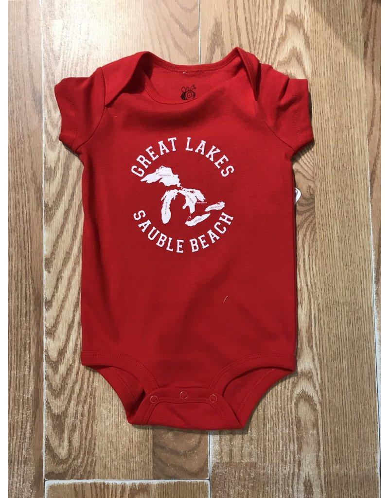Jailbird designs Great Lakes baby onesie