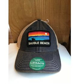 Sauble Beach SB sunset chair patch trucker hat