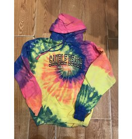 Sauble Beach SB tye dye emb arch p/o hoody